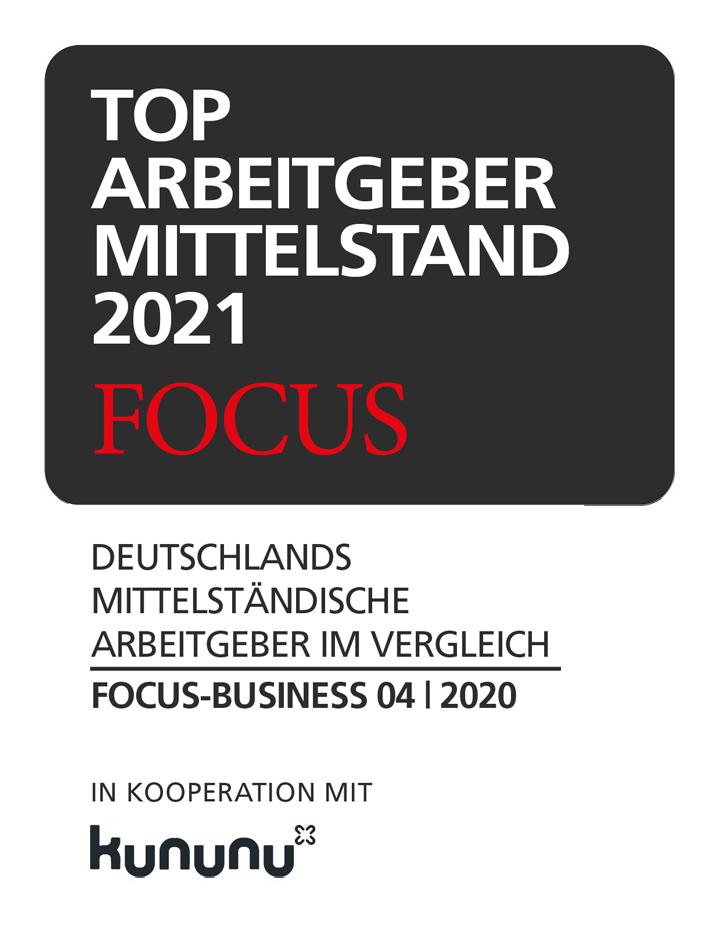 FOCUS Top Arbeitgeber des Mittelstand 2021